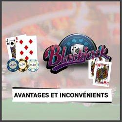 blackjack poker avantages inconvenients